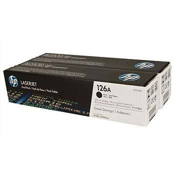 HP 126A Black Siyah Çiftli 1.200 Sayfa Toner CE310AD