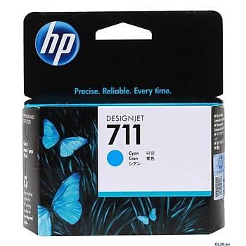 HP 711 Cyan Mavi 29ML Plotter Kartuþu CZ130A