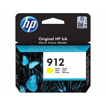 HP 912 Yellow Sarý Kartuþ 3YL79A