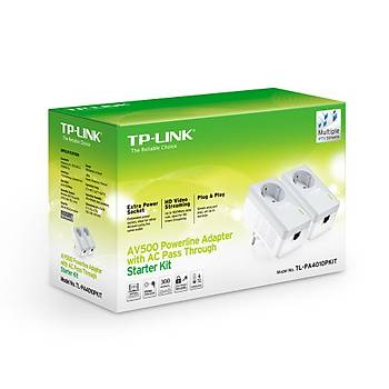 Tp-Link TL-PA4010PKIT 600 Mbps Priz Soketli Powerline Adaptör