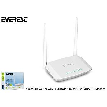 Everest SG-V300 Router 64MB SDRAM 11N VDSL2-ADSL2