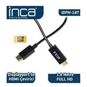 Inca IDPH-18T Displayport To Hdmý Kablo 1.8mt
