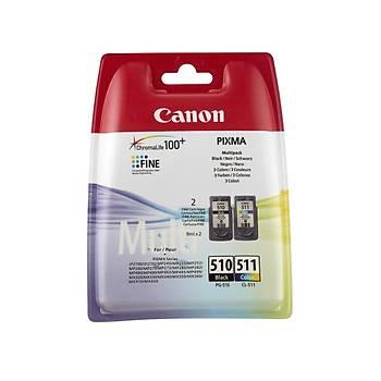Canon PG-510 CL-511 Multipack 2'li Mürekkep Kartuþ