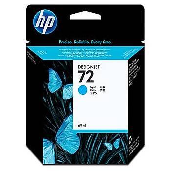 HP 72 Cyan Mavi 69ML Plotter Kartuþu C9398A