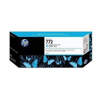 HP 772 Light Cyan Açýk Mavi 300ML Plotter Kartuþu CN632A