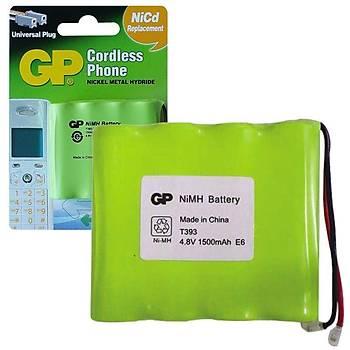 Gp T393 4.8V 1500 mAh 4'lü Telsiz Telefon Pili