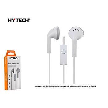 Hytech HY-XK03 Mobil Telefon Uyumlu Kulak içi Beyaz Mikrofonlu Kulaklýk