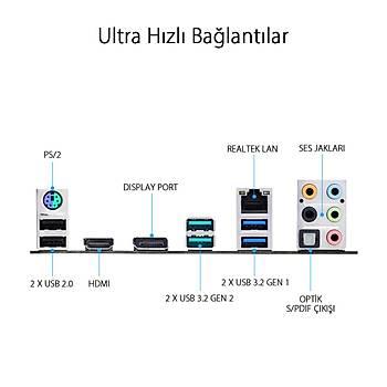 Asus Prime Z490-P Intel Z490 4600 MHz DDR4 1200 Pin ATX Anakart