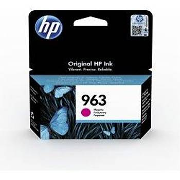 HP 963 Magenta Kýrmýzý Kartuþ 3JA24A