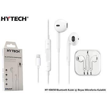 Hytech HY-XBK50 Bluetooth Kulak içi Beyaz Mikrofon kulaklýk