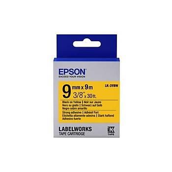 Epson LK-3YBW Strong Siyah Üzeri Sarý 9MM 9Metre Etiket