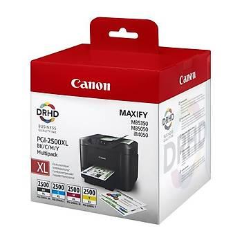 Canon PGI-2500XL Black-Cyan-Magenta-Yellow Siyah-Mavi-Kýrmýzý-Sarý Multipack 4'lü Mürekkep Kartuþ