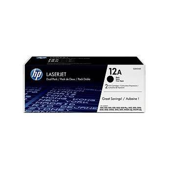 HP 12AF Black Siyah 2.000 Sayfa Çiftli Toner Q2612AF