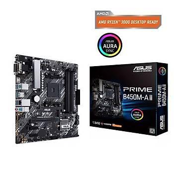 Asus Prime B450M-A II BIOS FlashBack Amd B450 Socket Am4 Ryzen™ Ddr4 4400Mhz(O.C.) M.2 Anakart
