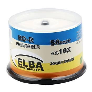 Elba Blu-Ray BD-R 10X 25GB 50LÝ Cake Box Prýntable