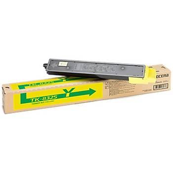 Kyocera TK-8325Y Yellow Sarý Orjinal Fotokopi Toneri Taskalfa 2551ci 12.000 Sayfa