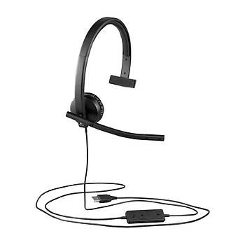 Logitech 981-000571 H570E Mono Usb Tek Taraflý Headset Mikrofonlu Kulaklýk