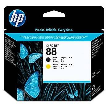 HP 88 Black-Yellow Baský Kafasý C9381A