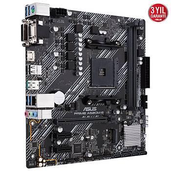Asus Prime A520M-E AMD AM4 64GB DDR4 4600Mhz M2 Dvi-Vga-Hdmi mATX Anakart