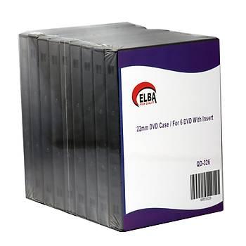 Elba QD-326 6LI Siyah 22mm Dvd Kutusu 10 Adet