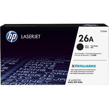 HP 26A Black Siyah 3.100 Sayfa Toner CF226A