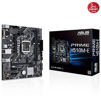 Asus Prime H510M-E 11.Nesil 3200(OC) Ddr4 64GB Soket LGA1200 M.2 Vga Hdmi Dp Matx Anakart