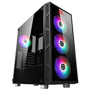 Powerboost Vk-G2052S 650W 80+ Usb 3.0 Atx, Temp.Glass Led Rgb Rainbow Fan, 650W Siyah Kasa