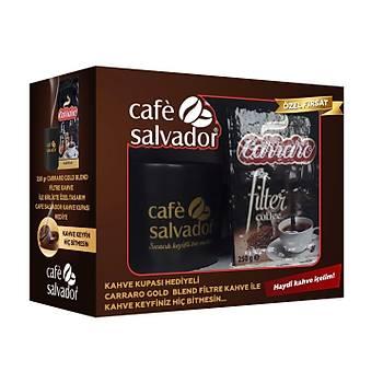 Cafe Salvador Carraro Gold Blend 250gr Filtre Kahve(Kupa Hediyeli)