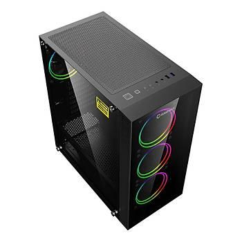 Frisby GAMEMAX Draco XD Gaming 650W 80+ Bronze Oyuncu Bilgisayar Kasasý