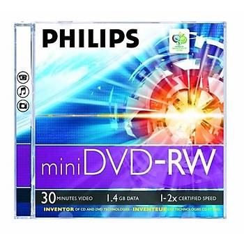 Philips DVD-RW 1.4GB 30min 1-2X 10 lu Cakebox