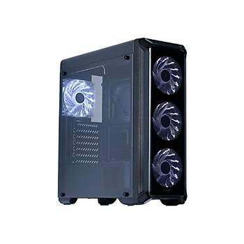 Zalman Ý3 EDGE SERÝSÝ Cam Panel 4 Adet 12cm Beyaz Led Fanlý USB 3,0 Kasa