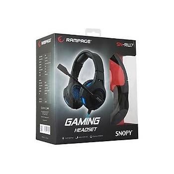 Snopy Rampage SN-RW7 USB Gaming Siyah Mikrofonlu kulaklýk