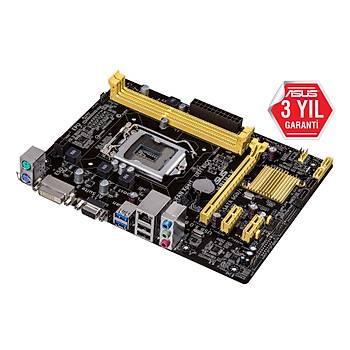 Asus H81M-K Intel LGA1150 4.Nesil DDR3 16GB 1066MHz Vga-Dvi uATX Anakart