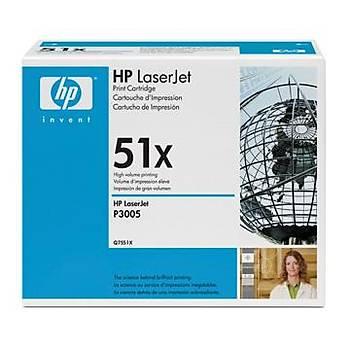 HP 51X Black Siyah 13.000 Sayfa Toner Q7551X