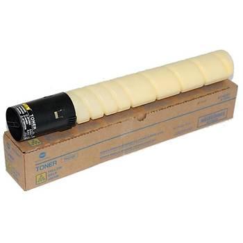 Konica Minolta TN-216Y Yellow Sarý Kýrmýzý Orjinal Fotokopi Toneri Bizhup C220-280 26.000 Sayfa