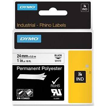 Dymo RhinoPRO 18053 Beyaz-Siyah Sabit Polyester