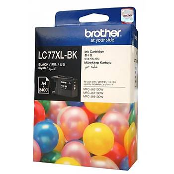 Brother LC-77XLBK Black Siyah 2.400 Sayfa Kartuþ MFC-6170-6510-6910 MFJ-J6710DW