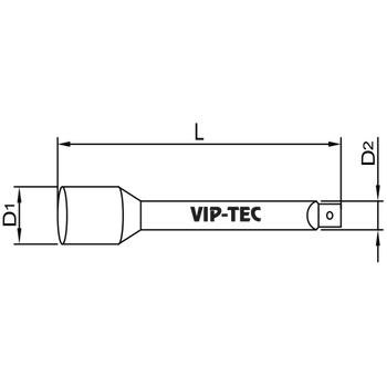 """Výp-tec 1-4"""" Uzun Uzatma 100MM VT114003"""
