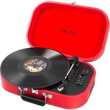Mikado Nostalgia MN-101 Pikap Fil diþi Usb+RCA+Bluetooth Destekli Müzik Kutusu