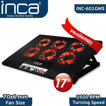 "Inca Inc-601GMS 7""-17"" 6 Fanlý 2xUSB 6 Kademeli  Notebook Faný"
