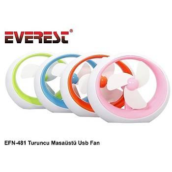 Everest EFN-481 Karýþýk Renkli Masaüstü Usb Fan (kampanyalý Ürün)