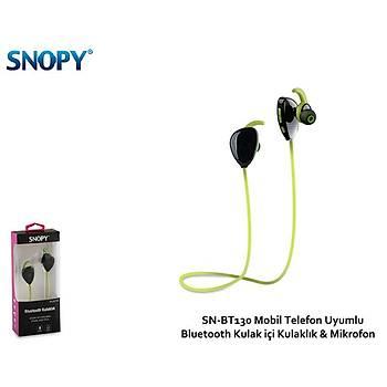 Snopy SN-BT130 Mobil Telefon Uyumlu Bluetooth Kulak içi Kulaklýk & Mikrofon