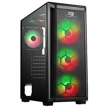 PowerBoost VK-T01B 650W 80+ RGB USB 3.0 ATX Mid Tower Kasa
