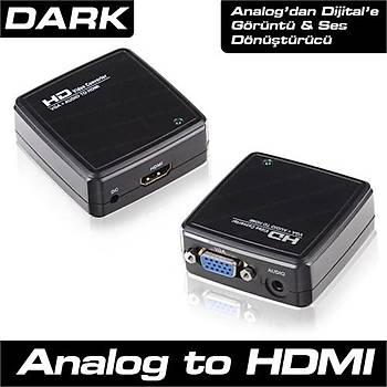 Dark VGA to HDMI Aktif Dönüþtürücü