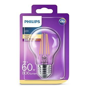Philips Led Classýc 60w a60 e 27 ww cl nd (742419)