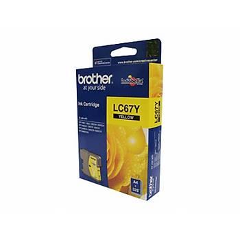 Brother LC-67Y Yellow Sarý 325 Sayfa Kartuþ DCP-185-385 MFC-490-615-790-795-990-5490-5890-6490-6890