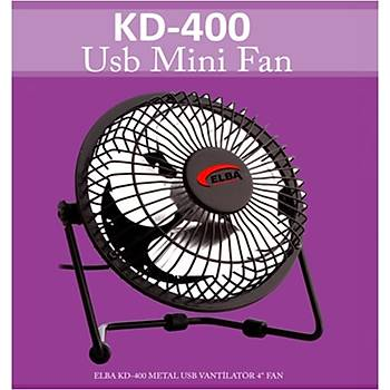 "Elba KD-400 Metal 4"" Usb Vantilatör Renkli"