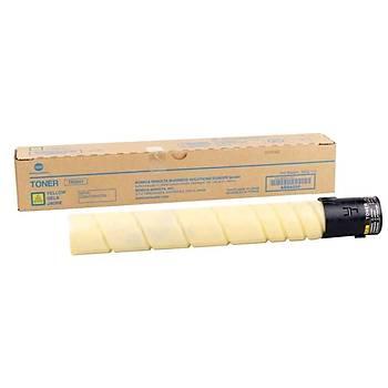 Konica Minolta TN-324Y Yellow Sarý Orjinal Fotokopi Toneri Bizhup C258-308-368 26.000 Sayfa