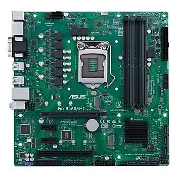 Asus Pro B460M-C-CSM Intel 10.Nesil DDR4 Hdmý 2xDp Vga 2xM2 Usb3.1 Anakart