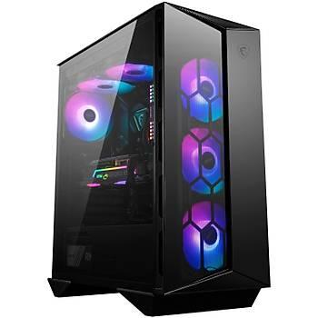 Msi MPG Gungnir 110R Temperli Cam 3 x A-RGB Fan, 1 x 120 mm Fan ATX Gaming Bilgisayar Kasasý
